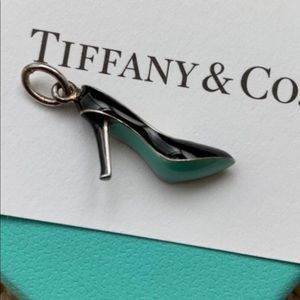 Jewelry - Tiffany and co Blue/Black Enamel High-Heel Charm